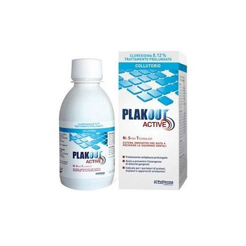 PLAK OUT ACTIVE CLOREXIDINA 0,20% COLLUTORIO 200 ML