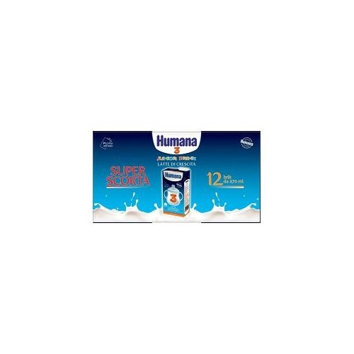 HUMANA 3 JUNIOR DRINK 470 ML 12 PEZZI