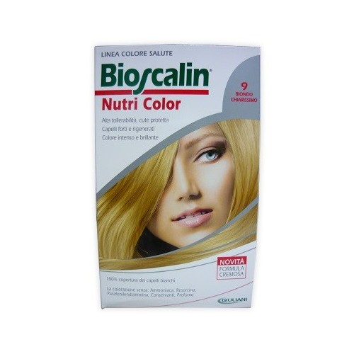 BIOSCALIN NUTRI COLOR 9 BIONDO CHIARISSIMO SINCROB 124 ML